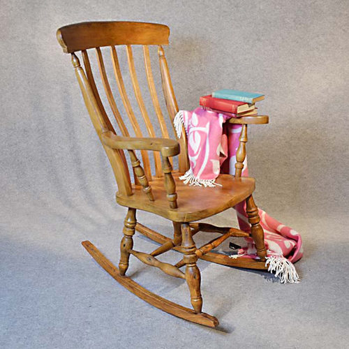 Rocking Windsor High Back Chair Country Rocker  Antiques