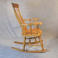 Rocking Windsor High Back Chair Country Rocker - Antiques ...