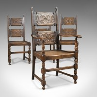 Scottish Set Of 4 Antique Dining Chairs, Oak - Antiques Atlas