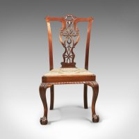 Set Of 4 Antique Dining Chairs, Victorian Chippend ...