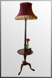 Antiques Atlas - Standard Lamp Wine Table & Shade Tall Floor