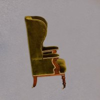 Victorian Wing Back Chair, Green Velvet C.1850 - Antiques ...