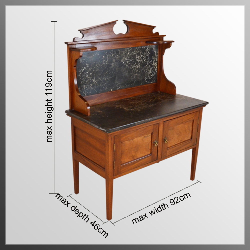 Wash Stand Marble Top Late Victorian Washstand Antiques