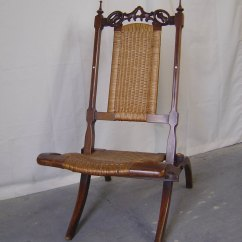 Folding Wicker Chairs Revolving Chair On Gem A Victorian Walnut Campaign - Antiques Atlas