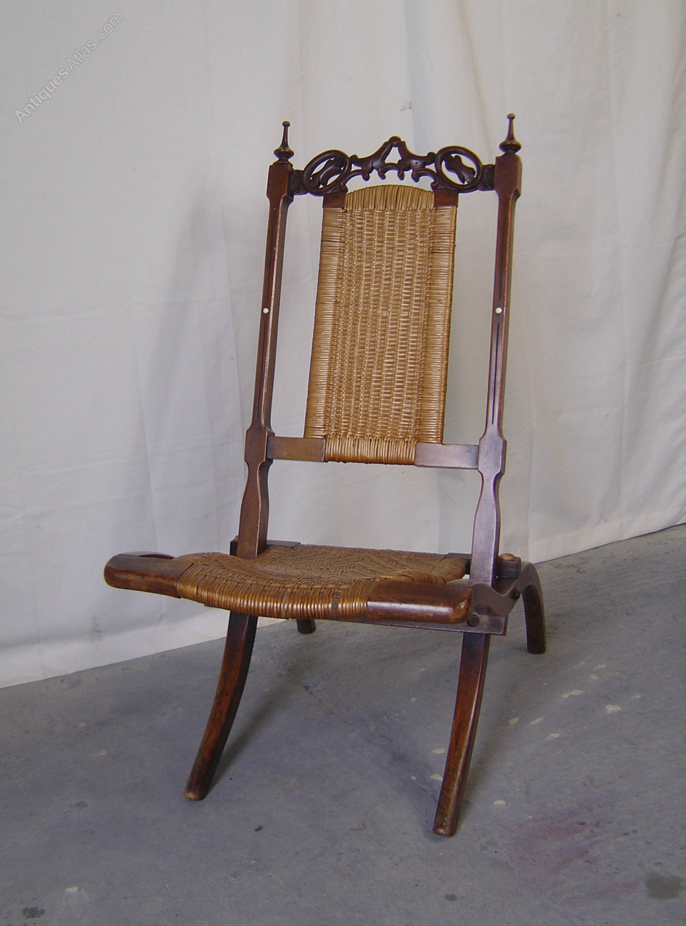 wicker chairs for sale chair glides carpet a victorian walnut folding campaign - antiques atlas