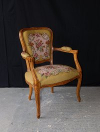 French Louis XV Style Arm Chair - Antiques Atlas