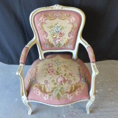Antique Needlepoint Chair Green Covers Weddings French Pink - Antiques Atlas