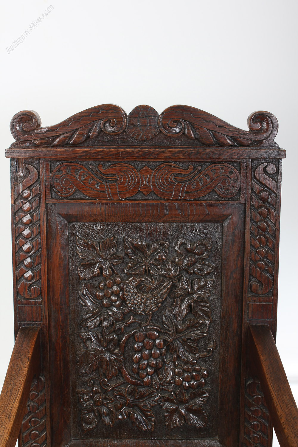 z chair for sale wheelchair hockey carved oak wainscot - antiques atlas