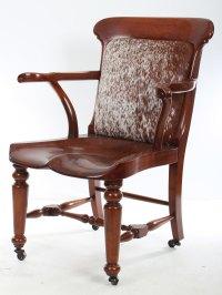 Solid Mahogany Victorian Desk Chair - Antiques Atlas