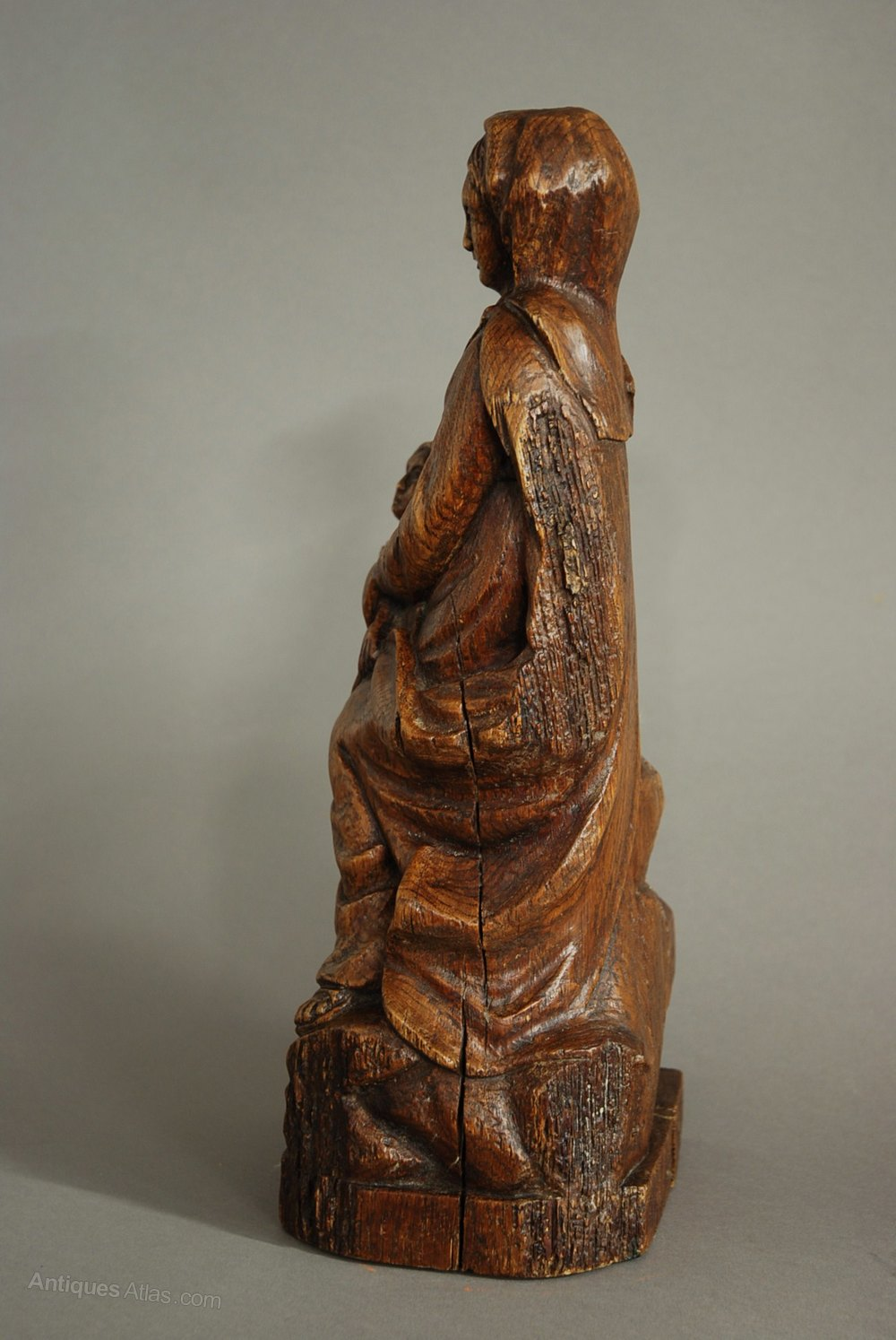 Antiques Atlas  17th Century Madonna  Child Oak Wood Carving