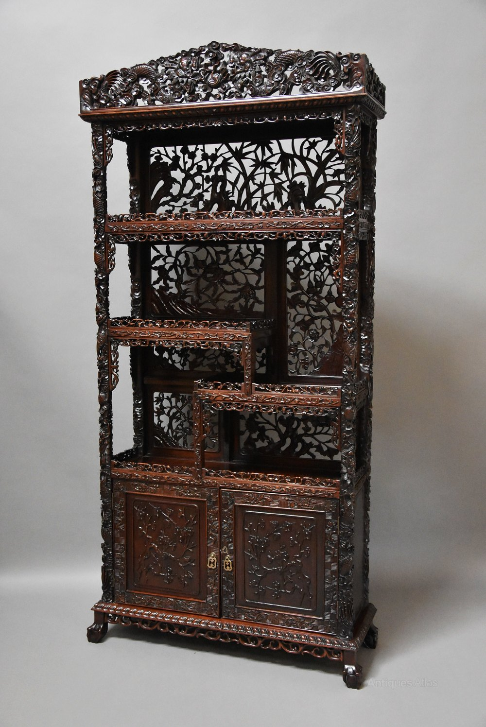 19thc Chinese Superb Quality Padouk Cabinet  Antiques Atlas