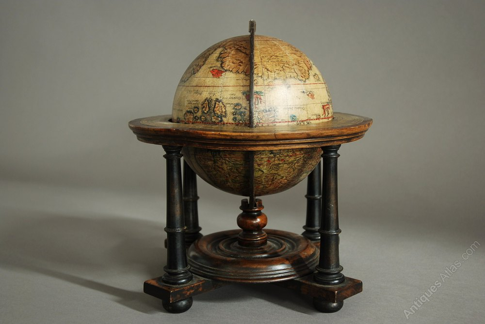 Antiques Atlas  Edwardian Terrestrial Table Globe
