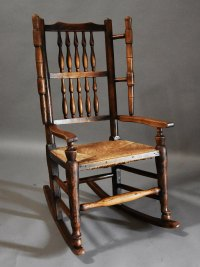 Mid 19thc Ash Rocking Chair Or Nursing Chair