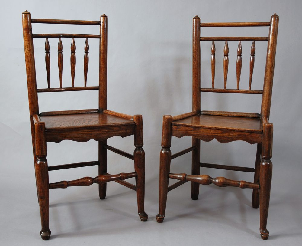 Pair Of Spindle Back Chairs  Antiques Atlas