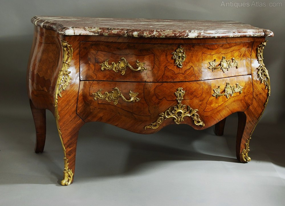 Rare French Early 18th Century Kingwood Commode  Antiques