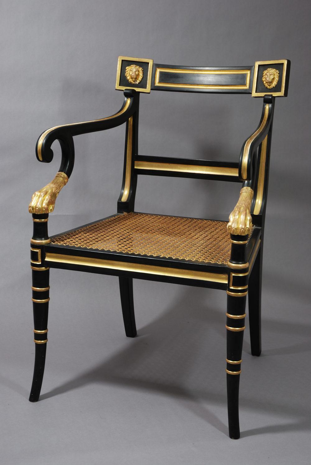 Antiques Atlas  Regency Style Open Armchair