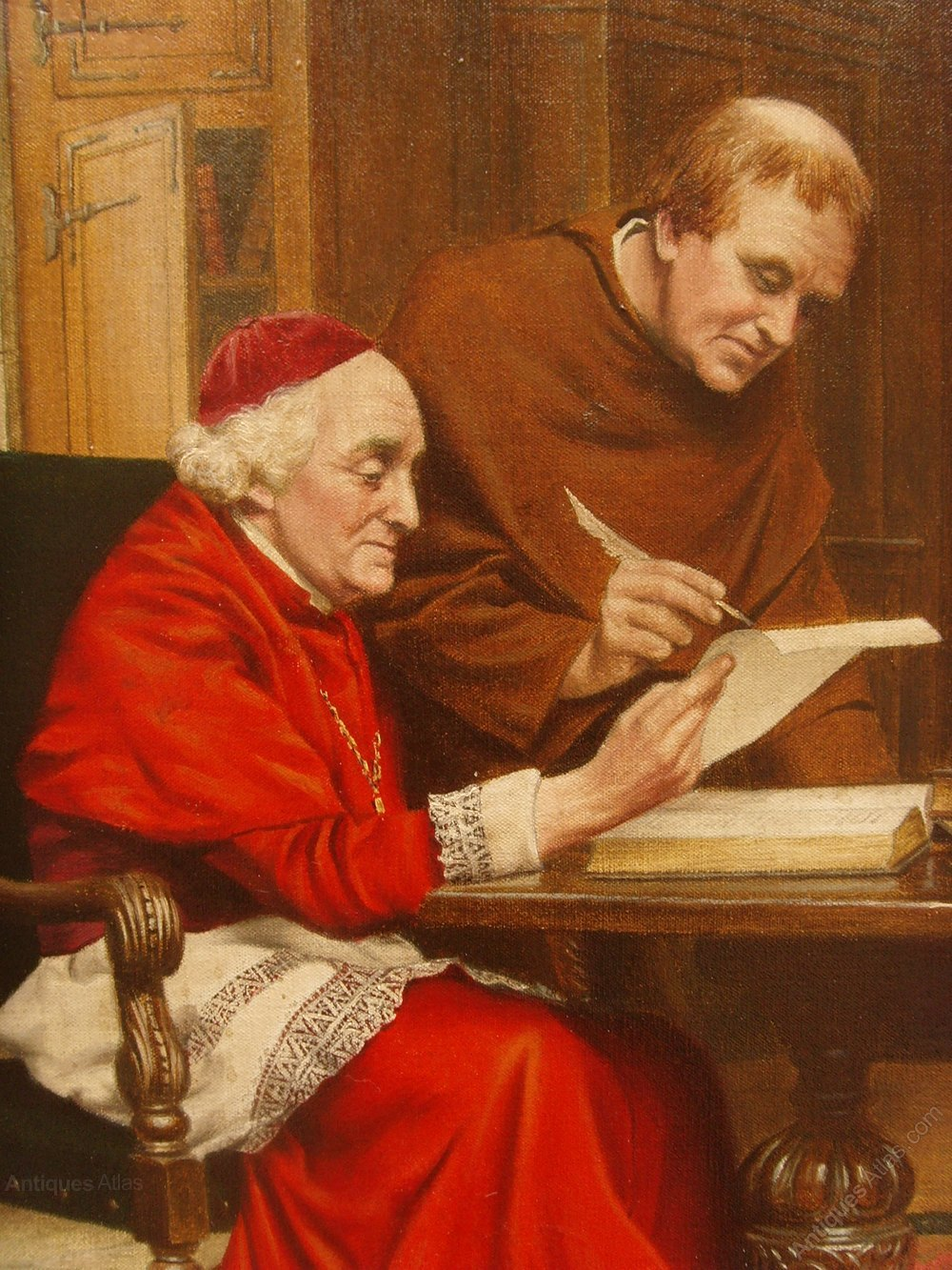 Antiques Atlas  Oil Painting Of Catholic Cardinal In His