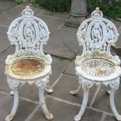 Iron Outdoor Chairs Chair Cover Rentals Louisville Ky Antiques Atlas A Pair Of Victorian Cast Garden