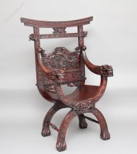 Chinese Carved Throne Chair - Antiques Atlas