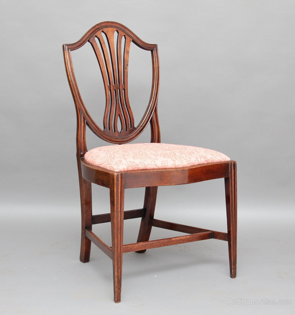 Set Of Four Hepplewhite Chairs  Antiques Atlas