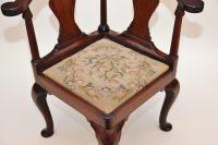 Walnut Corner Chair - Antiques Atlas
