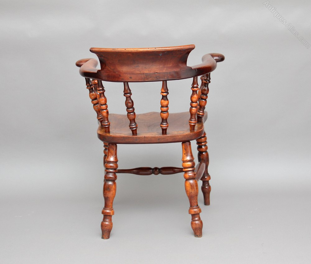 antique wooden high chair rocking cushion yew wood captains - antiques atlas