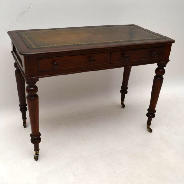 Antique Victorian Mahogany Writing Desk