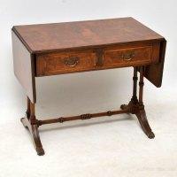Antique Walnut Drop Leaf Coffee Table - Antiques Atlas