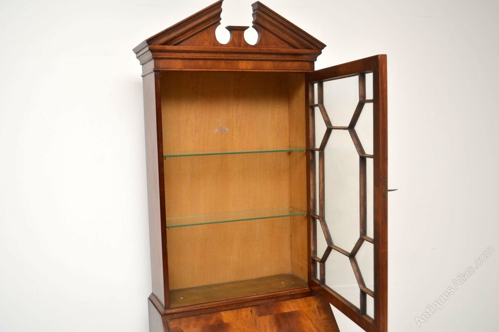 Antiques Atlas Slim Antique Mahogany Bureau Bookcase