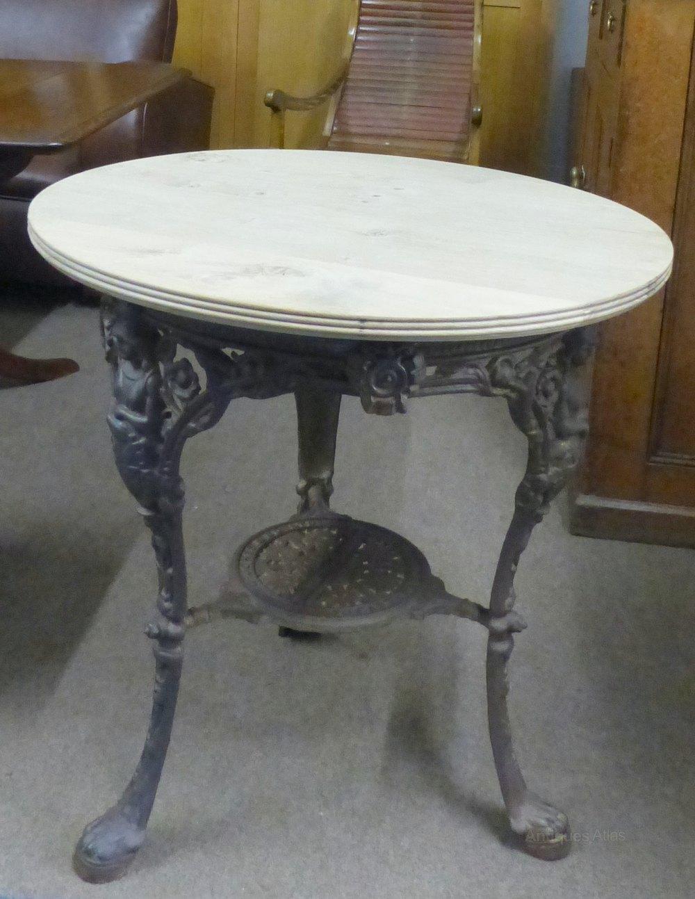 Cast Iron Table  Antiques Atlas