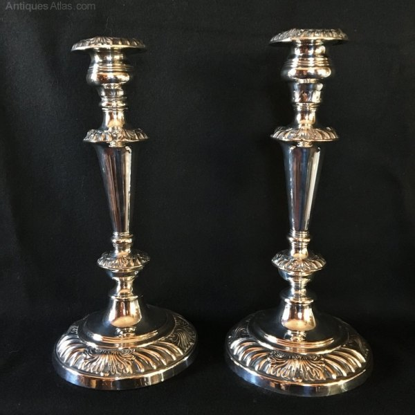 Antiques Atlas - Silver Plated Candelabra. English 1850