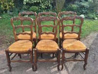 Set Of 6 French Oak Kitchen Chairs. C 1930,s - Antiques Atlas