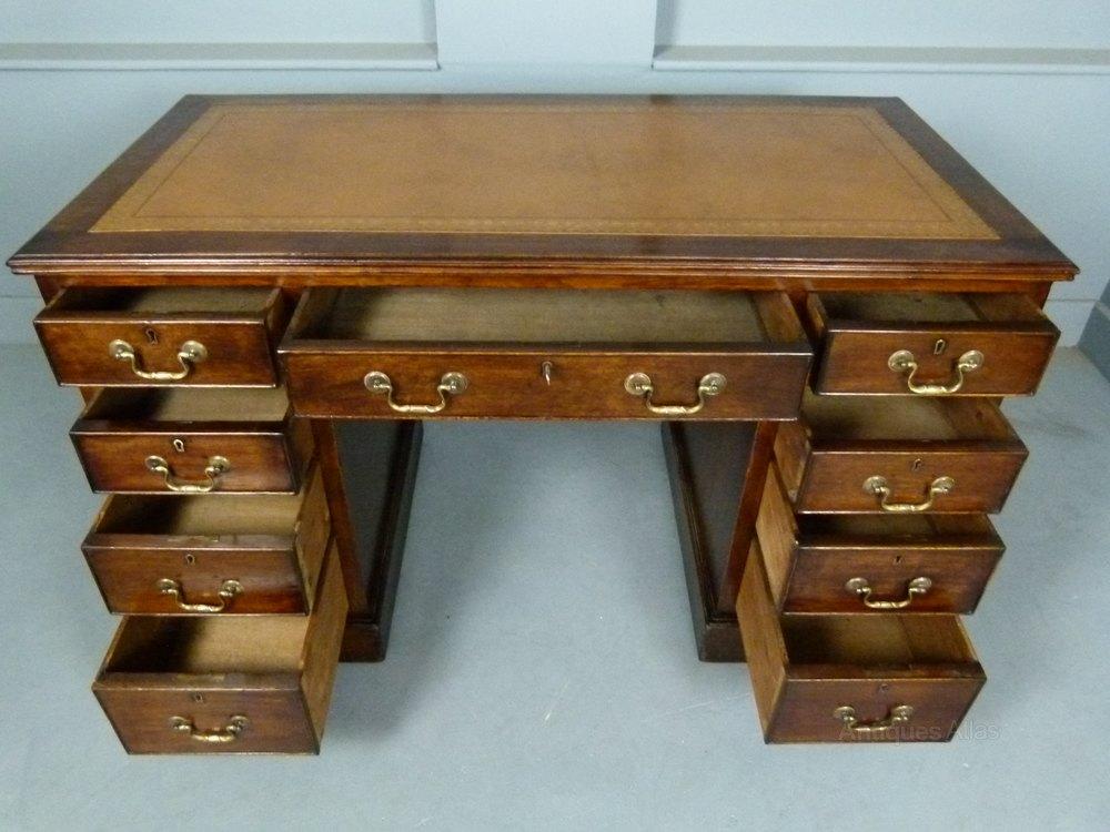 Victorian Mahogany Pedestal Desk  Antiques Atlas