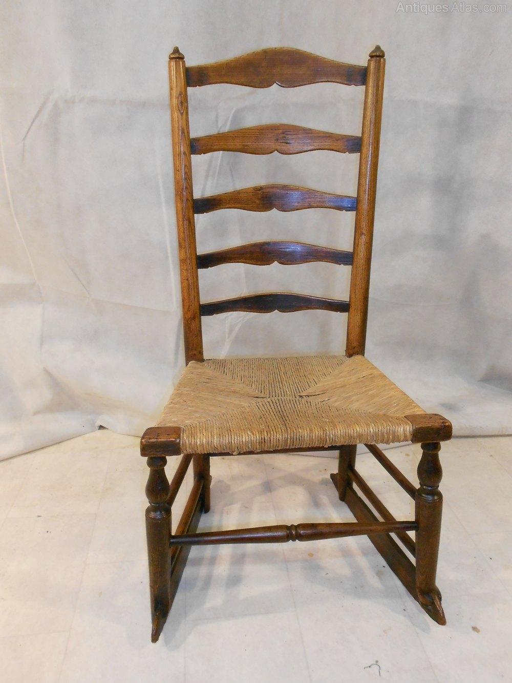 Antique Georgian Ash Lancashire Rocking Chair  Antiques Atlas