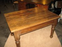 Victorian Pitch Pine Farmhouse Table - Antiques Atlas
