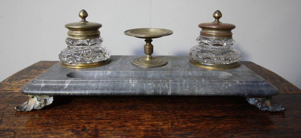 Antiques Atlas Antique Gilt Bronze Amp Marble Desk Set