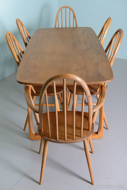 atlas tables and chairs hanging chair sams club antiques - beautiful 1960's elm ercol dining table &