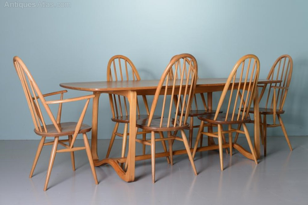 Antiques Atlas  Beautiful 1960s Elm Ercol Dining Table