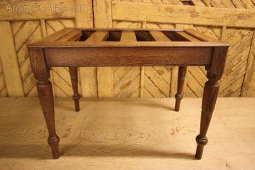 english antique oak luggage rack stand