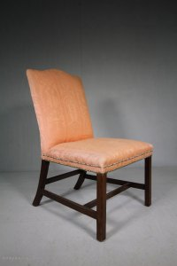 Georgian Antique Upholstered Side Chair. - Antiques Atlas