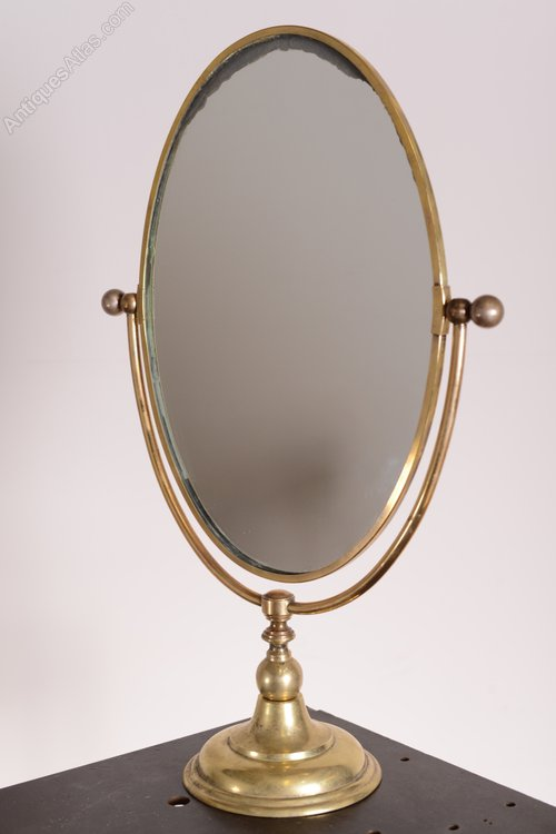 Bathroom Vanity Mirrors Antiques Atlas - Large Edwardian Antique Brass Vanity Mirror.