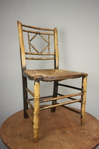Regency Antique Simulated Bamboo Side Chair. - Antiques Atlas