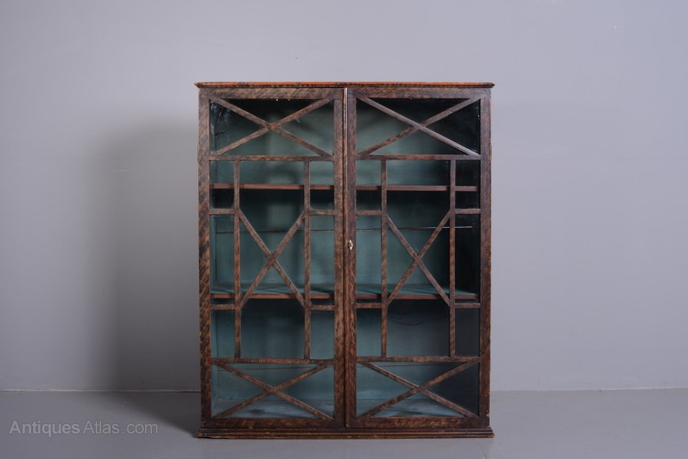 Regency Antique Wall Cabinet In Original Paint  Antiques