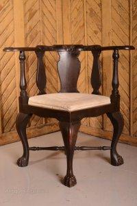 Superb Quality Antique Mahogany Corner Chair - Antiques Atlas