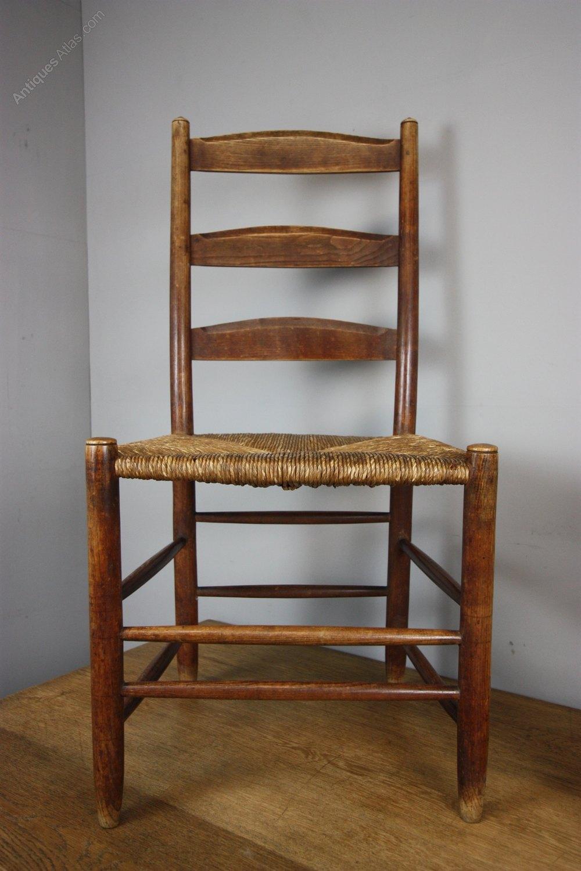 Pair Of Gimson Antique Ladderback Chairs  Antiques Atlas