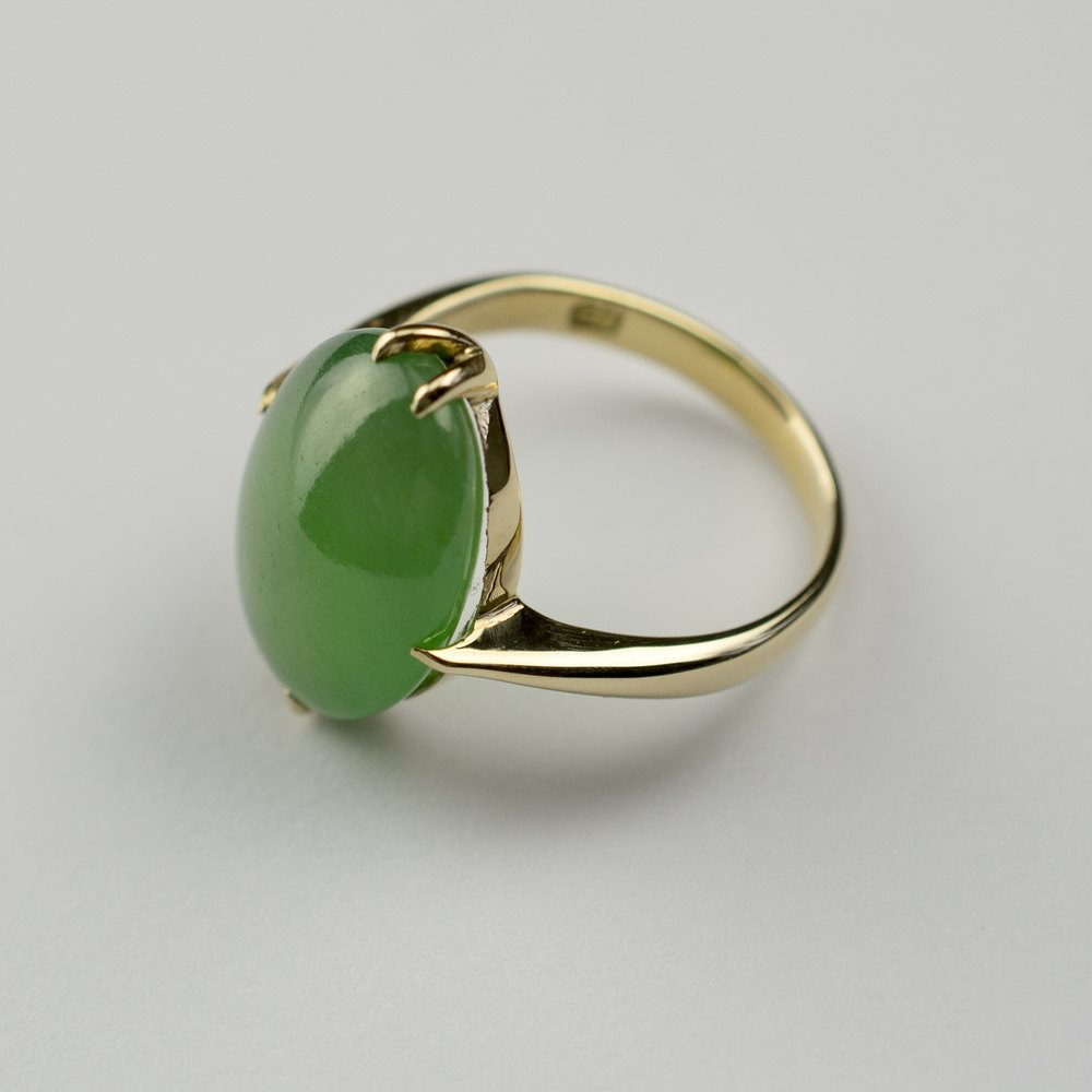 Ring Gold Jade