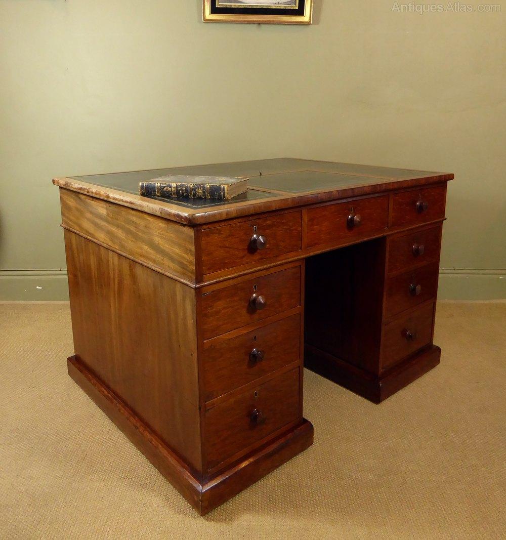19th C Mahogany Partners Desk  Antiques Atlas