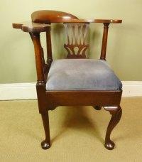 George III Mahogany Corner Chair - Antiques Atlas