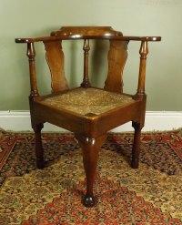 George III Walnut Corner Chair - Antiques Atlas