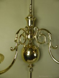 Antiques Atlas - Pair Of 19th C Brass Wall Sconces
